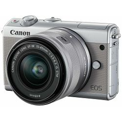 Canon EOS M100 + 15-45 IS STM Gray Mirrorless Digital Camera sivi Digitalni fotoaparat s objektivom EF-M 15-45mm 3.5-6.3 (2211C049AA) - CASH BACK promocija povrat novca u iznosu 300 kn