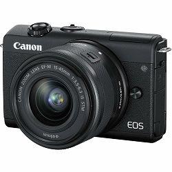 Canon EOS M200 + 15-45 IS STM Black Mirrorless Digital Camera crni Digitalni fotoaparat s objektivom EF-M 15-45mm 3.5-6.3 (3699C027AA)