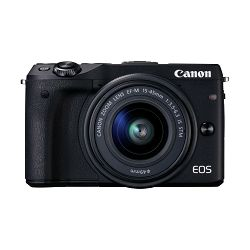 Canon EOS M3 + 15-45 IS KIT Black Mirrorless Digital Camera Digitalni fotoaparat s objektivom EF-M 15-45mm 3.5-6.3 (9694B142AA)