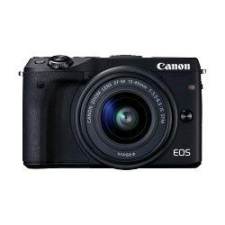 Canon EOS M3 + 15-45 IS KIT Black Mirrorless Digital Camera Digitalni fotoaparat s objektivom EF-M 15-45mm 3.5-6.3 (9694B142AA)