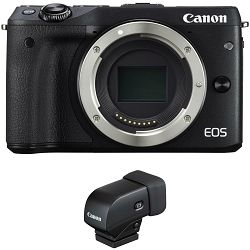 Canon EOS M3 + ViewFinder Black crni Mirrorless Digital Camera Digitalni fotoaparat (9694B076AA)