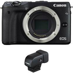 Canon EOS M3 + ViewFinder Black crni Mirrorless Digital Camera Digitalni fotoaparat (9694B076AA)