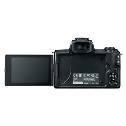 Canon EOS M50 + 15-45 IS STM + 55-200 IS STM Black Mirrorless Digital Camera Digitalni fotoaparat EF-M 15-45mm 3.5-6.3 55-200mm 4.5-6.3 (2680C072AA)