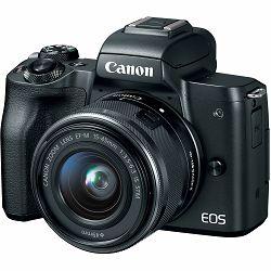 Canon EOS M50 + 15-45 IS STM Black Mirrorless Digital Camera crni Digitalni fotoaparat s objektivom EF-M 15-45mm 3.5-6.3 (2680C070AA)