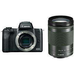Canon EOS M50 + 18-150 IS STM Black Mirrorless Digital Camera Digitalni fotoaparat s objektivom EF-M 18-150mm f/3.5-6.3 (2680C071AA)