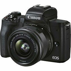 Canon EOS M50 Mark II + EF-M 15-45mm f/3.5-6.3 IS STM Black Mirrorless Camera bezrcalni fotoaparat (4728C043AA) - CB PROMOTION