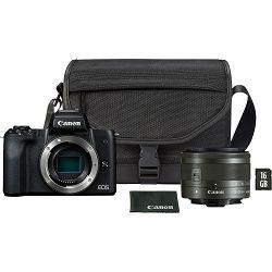 Canon EOS M50 Mark II + EF-M 15-45mm f/3.5-6.3 IS STM + SB130 + SD 16GB Mirrorless Camera bezrcalni fotoaparat (4728C058AA)