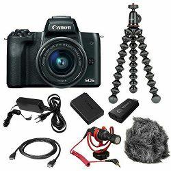 Canon EOS M50 Mark II + EF-M 15-45mm f/3.5-6.3 IS STM Premium Livestream Kit (4728C059AA) - CB PROMOTION