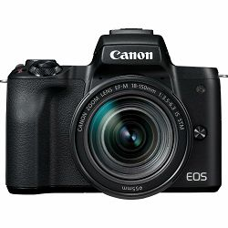 Canon EOS M50 Mark II + EF-M 18-150mm f/3.5-6.3 IS STM Black Mirrorless Camera bezrcalni fotoaparat (4728C044AA)