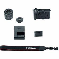 Canon EOS M6 + 15-45 IS STM Black Mirrorless Digital Camera with lens crni Digitalni fotoaparat i objektiv EF-M 15-45mm f/3.5-6.3 (1724C012AA)