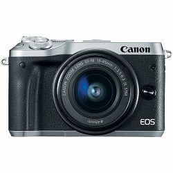Canon EOS M6 + 15-45 IS STM Silver Mirrorless Digitalni fotoaparat i objektiv EF-M 15-45mm f/3.5-6.3 (1725C012AA)