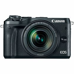 Canon EOS M6 + 18-150 IS STM Black Mirrorless Digital Camera with lens crni Digitalni fotoaparat i objektiv EF-M 18-150mm f/3.5-6.3 (AJ1724C022AA)