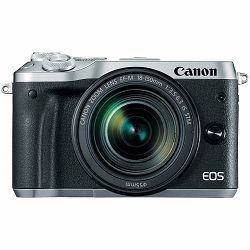 Canon EOS M6 + 18-150 IS STM Silver Mirrorless Digitalni fotoaparat i objektiv EF-M 18-150mm f/3.5-6.3 (1725C022AA)