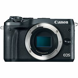 Canon EOS M6 Body Black 24.2MP FullHD 60fps Dual Pixel CMOS AF WiFi Mirrorless Digital Camera crni digitalni fotoaparat (1724C002AA)