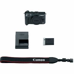 Canon EOS M6 Body Black 24.2MP FullHD 60fps Dual Pixel CMOS AF WiFi Mirrorless Digital Camera crni digitalni fotoaparat (1724C002AA)