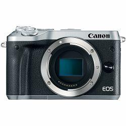 Canon EOS M6 Body Silver 24.2MP FullHD 60fps Dual Pixel CMOS AF WiFi Mirrorless Digital Camera srebreni digitalni fotoaparat (1725C002AA)