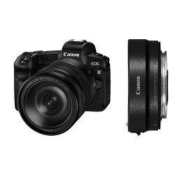 Canon EOS R + RF 24-105mm f/4L IS USM + EF-EOS R adapter Mirrorless Digital Camera bezrcalni digitalni fotoaparat s objektivom i adapterom (3075C058AA)