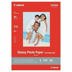 Canon Glossy Photo Paper Everyday Use GP-501 21x29.7cm A4 5 listova foto papir za ispis fotografije Gloss 200gsm ISO96 0.21mm 5 sheets GP501A4DEMO (BS0775B076AA)