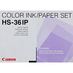 Canon HS-36 IP foto papir Standard Print Pack for Canon CD-300 Printer (36 Sheets with Ribbon) 1996A003AA