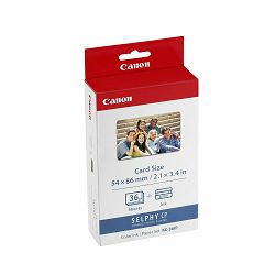 Canon KC-36IP foto papir Color Ink & Paper Set for CPSelect Compact Photo Printers (Card-size paper, 36 sheets) za CP-100, CP-200, CP-220, CP-300, CP-330, Selphy CP400, CP510, CP600 & CP710 7739A001AH