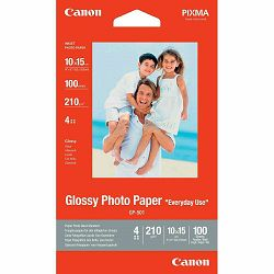 Canon Photo Paper Glossy Everyday Use GP-501 10x15cm 100 listova foto papir za ispis fotografije Gloss 200gsm ISO96 0.21mm 4x6