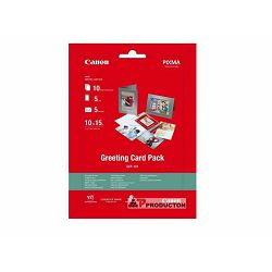 Canon Photo Paper Greeting Card Pack GCP-101 10x15cm 10 listova + 5x kartice + 5x kuverte foto papir za ispis fotografije na čestitke Glossy 170gsm 10 sheets GCP101 (BS0775B077AA)