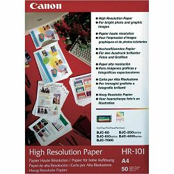 Canon Photo Paper High Resolution HR-101 21x29.7cm A4 50 listova foto papir za ispis fotografije Matte 106gsm ISO93 0.122mm 50 sheets HR101A4/50 (BEF51-2101350)