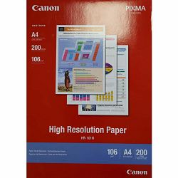Canon Photo Paper High Resolution HR-101 21x29.7cm A4 200 listova foto papir za ispis fotografije Matte 106gsm ISO93 0.122mm 200 sheets HR101A4 (BEF51-2101500)