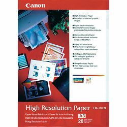 Canon Photo Paper High Resolution HR-101 29.7x42cm A3 20 listova foto papir za ispis fotografije Matte 106gsm ISO93 0.122mm 20 sheets HR101A3/20 (BEF51-2381350)