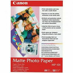 Canon Photo Paper Matte MP-101 21x29.7cm A4 50 listova foto papir za ispis fotografije Mat 170gsm ISO93 0.22mm 50 sheets MP101A4 (BS7981A005AA)