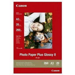 Canon Photo Paper Plus Glossy II PP-201 29.7x42cm A3 20 listova foto papir za ispis fotografije Gloss 265gsm ISO92 0.27mm 20 sheets PP201A3 (BS2311B020AA)