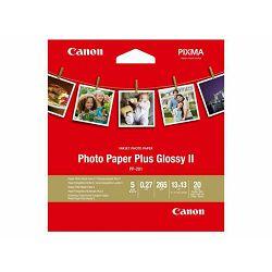 Canon Photo Paper Plus Glossy II PP-201 13x13cm 20 listova foto papir za ispis fotografije Gloss 265gsm ISO92 0.27mm 5x5