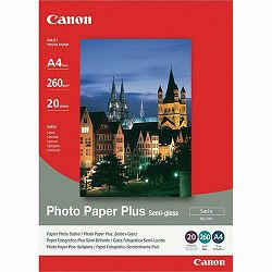 Canon Photo Paper Plus Semi-gloss SG-201 21x29.7cm 20 listova foto papir za ispis fotografije Satin 260gsm ISO91 A4 20 sheets SG201A4 (BS1686B021AA)