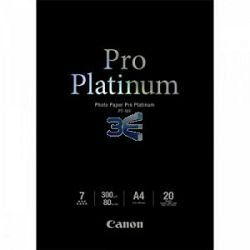 Canon Photo Paper Pro Platinum PT-101 21x29.7cm A4 20 listova foto papir za ispis fotografije Smooth gloss 300gsm ISO98 0.3mm A4 20 sheets PT101A4 (BS2768B016AA)