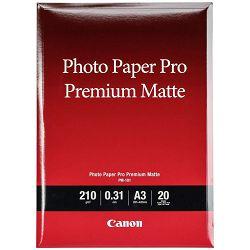 Canon Photo Paper Pro Premium Matte PM-101 21x29.7cm A4 20 listova foto papir za ispis fotografije Smooth matte 210gsm ISO92 0.31mm 20 sheets PM101A4 (BS8657B005AA)