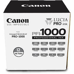 Canon Pigment Ink Tank PFI-1000 Lucia PRO 12 Set komplet 12x tinta 80ml za printer imagePROGRAF PRO-1000 (0545C006AA)