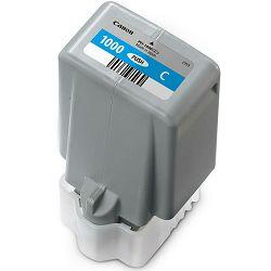Canon Pigment Ink Tank PFI-1000 Lucia PRO Cyan 80ml PFI1000C cijan zeleno-plava tinta za printer imagePROGRAF PRO-1000 (0547C001AA)