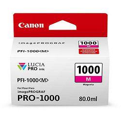 Canon Pigment Ink Tank PFI-1000 Lucia PRO Magenta 80ml PFI1000M purpurnocrvena tinta za printer imagePROGRAF PRO-1000 (0548C001AA)