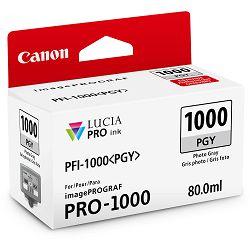 Canon Pigment Ink Tank PFI-1000 Lucia PRO Photo Grey 80ml PFI1000PGY foto siva tinta za printer imagePROGRAF PRO-1000 (0553C001AA)