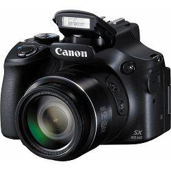 Canon PowerShot SX60 HS kompaktni digitalni fotoaparat SX60HS ultrazoom 65x s integriranim objektivom 3.8-247mm f/3.4-6.5 USM (9543B002AA) - CASH BACK promocija povrat novca u iznosu 300 kn