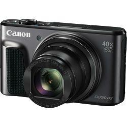Canon Powershot SX720 HS BK Black crni digitalni fotoaparat SX720HS 40x zoom WiFi FullHD (1070C002AA)