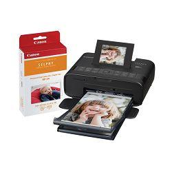 Canon Selphy CP1200 KIT Black crni termalni sublimacijski printer Wireless Compact Photo termosublimacijski pisač (0599C013AA)