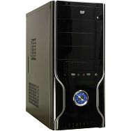Chassis INTER-TECH JY-236 Polecat Midi Tower, ATX, 7 slots, Microphone-In, Audio Line-Out, USB2.0, PSU optional, Black