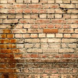 Click Props Background Vinyl with Print Old Rural Brick Wall 1,52x1,52m studijska foto pozadina s grafikom