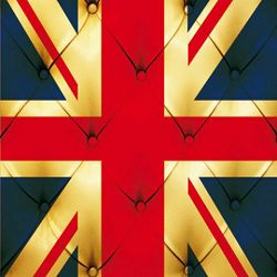 Click Props Background Vinyl with Print Union Jack Buttons 1,52x1,52m studijska foto pozadina s grafikom