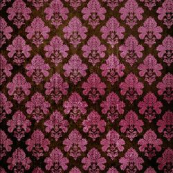 Click Props Background Vinyl with Print Damask Dark Pink 1,52x1,52m studijska foto pozadina s grafikom
