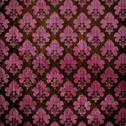 Click Props Background Vinyl with Print Damask Dark Pink 1,52x1,52m studijska foto pozadina s grafikom