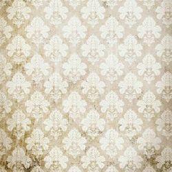Click Props Background Vinyl with Print Damask Distressed White 1,52x1,52m studijska foto pozadina s grafikom