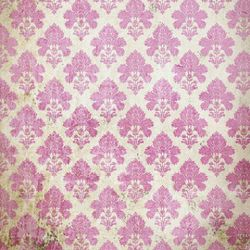 Click Props Background Vinyl with Print Damask Distressed Pink 1,52x1,52m studijska foto pozadina s grafikom