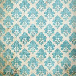 Click Props Background Vinyl with Print Damask Distressed Blue 1,52x1,52m studijska foto pozadina s grafikom